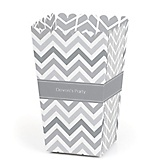 Gray Chevron - Personalized Baby Shower Popcorn Boxes