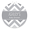 Chevron Gray - Personalized Baby Shower Tags - 20 ct