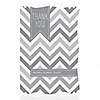 Chevron Gray - Personalized Baby Shower Thank You Cards