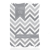 Gray Chevron - Personalized Baby Shower Thank You Cards
