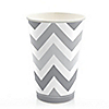Chevron Gray - Everyday Party Hot/Cold Cups - 8 ct