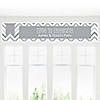 Chevron Gray - Personalized Everyday Party Banners