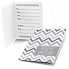 Chevron Gray - Everyday Party Fill In Invitations - 8 ct