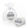 Chevron Gray - Personalized Everyday Party Lip Balm Favors