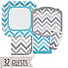 Chevron Blue and Gray - Everyday Party 32 Big Dot Bundle