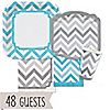 Chevron Blue and Gray - Everyday Party 48 Big Dot Bundle