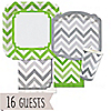 Chevron Green and Gray - Everyday Party 16 Big Dot Bundle