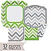 Chevron Green and Gray - Everyday Party 32 Big Dot Bundle