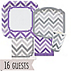 Chevron Purple and Gray - Everyday Party 16 Big Dot Bundle
