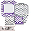 Chevron Purple and Gray - Everyday Party 32 Big Dot Bundle