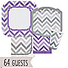 Chevron Purple and Gray - Everyday Party 64 Big Dot Bundle