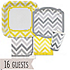 Chevron Yellow and Gray - Everyday Party 16 Big Dot Bundle