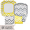 Chevron Yellow and Gray - Everyday Party 64 Big Dot Bundle