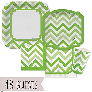 Chevron Green - Baby Shower 48 Big Dot Bundle