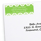 Green Chevron - Personalized Baby Shower Return Address Labels - 30 ct