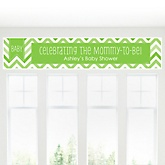 Green Chevron Chevron - Personalized Baby Shower Banner