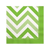 Chevron Green - Baby Shower Beverage Napkins - 16 ct