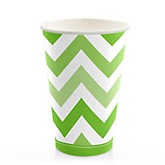 Chevron Green - Baby Shower Hot/Cold Cups - 8 ct
