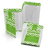 Chevron Green - Personalized Baby Shower Fabulous 5 Games