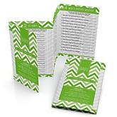 Green Chevron - Fabulous 5 Personalized Baby Shower Games