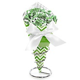 Green Chevron - Baby Shower Candy Bouquets with Frooties