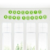 Green Chevron - Personalized Baby Shower Garland Banner