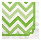 Chevron Green - Baby Shower Luncheon Napkins - 16 ct
