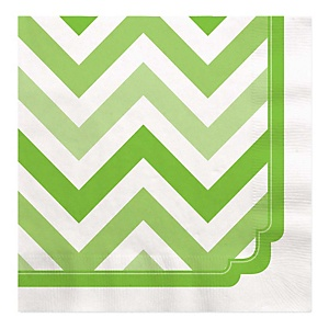 Green Chevron - Baby Shower Luncheon Napkins - 16 Pack