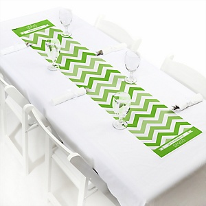 Green Chevron - Personalized Baby Shower Petite Table Runners