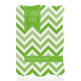 Green Chevron - Personalized Baby Shower Thank You Cards