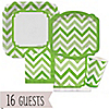 Chevron Green - Everyday Party 16 Big Dot Bundle