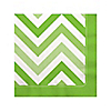 Chevron Green - Everyday Party Beverage Napkins - 16 ct
