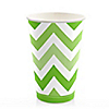 Chevron Green - Everyday Party Hot/Cold Cups - 8 ct