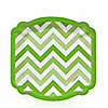 Chevron Green - Everyday Party Dessert Plates - 8 ct