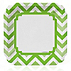Chevron Green - Everyday Party Dinner Plates - 8 ct