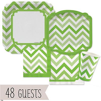 Chevron Green - Bridal Shower 48 Big Dot Bundle...