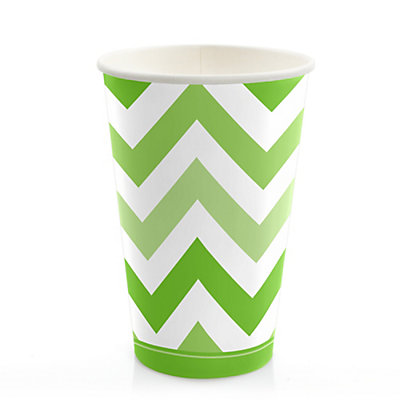 Chevron Green - Bridal Shower Hot/Cold Cups - 8 ct...