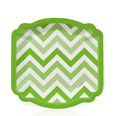Chevron Green - Bridal Shower Dessert Plates - 8 ct...