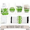 Chevron Green - 40 Piece Personalized Everyday Party Kit