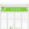 Chevron Green - Personalized Everyday Party Banners