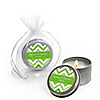 Chevron Green - Personalized Everyday Party Candle Tin Favors