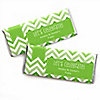 Chevron Green - Personalized Everyday Party Candy Bar Wrapper Favors