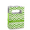 Chevron Green - Personalized Everyday Party Mini Favor Boxes