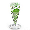 Chevron Green - Everyday Party Candy Bouquets with Sticklettes