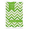 Chevron Green - Personalized Everyday Party Thank You Cards