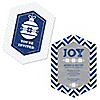 Merry & Bright - Chevron Navy and Gray - Shaped Christmas Dinner Party Invitations