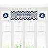 Merry & Bright - Chevron Navy and Gray - Personalized Christmas Party Banners