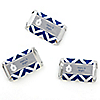 Merry & Bright - Chevron Navy and Gray - Personalized Christmas Dinner Party Mini Candy Bar Wrapper Favors - 20 ct