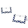 Merry & Bright - Chevron Navy and Gray - Christmas Dinner Party Place Cards - 9 ct