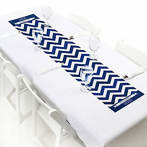Chevron Navy - Personalized Party Petite Table Runner